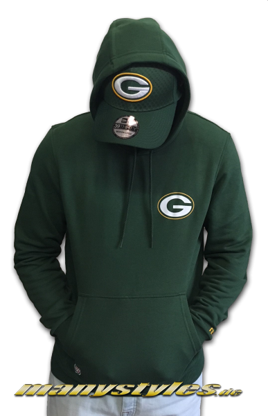 Greenbay Packers NFL Team Logo Hoody Hooded Sweater Green Yellow OTC Original Team Color von New Era