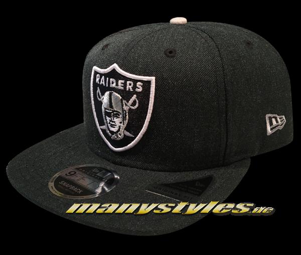 Oakland Raiders 9FIFTY NFL Heathered Hype OF Original Fit Snapback Cap Dark Original Official Team Color OTC von New Era