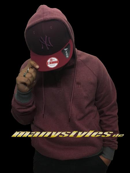 Mahagony Apparel Hooded Sweater Red Tonal Melange