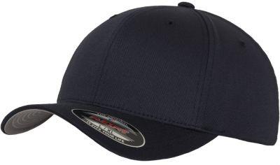 Blank Flex Fit Curved Visor Cap Dark Navy