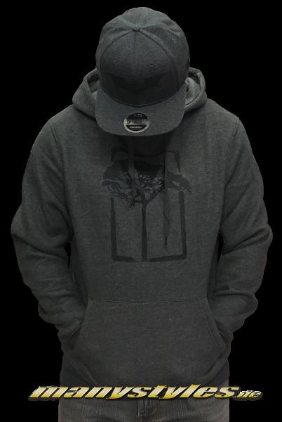 Mahagony T.O.L. Brush Hooded Sweater Charcoal Melange