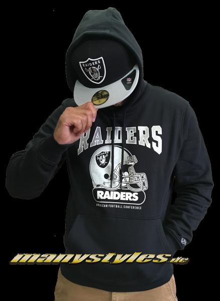 Las Vegas Raiders oder OaklandrRaiders NFL Team Archie Hoodie Hooded Sweater Black Team Color von New Era