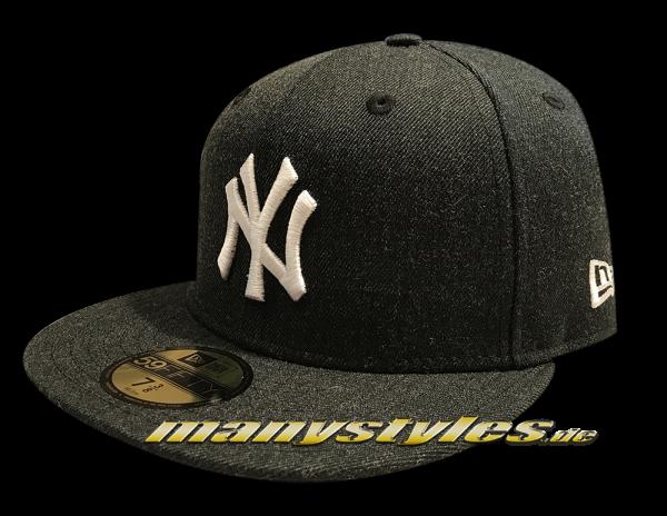 NY Yankees MLB 59FIFTY Seasonal Heather Black White von New Era